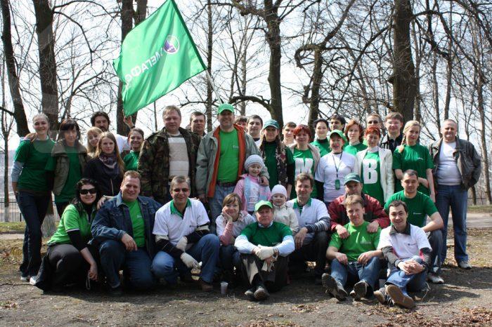 Зеленый субботник для компании МЕГАФОН