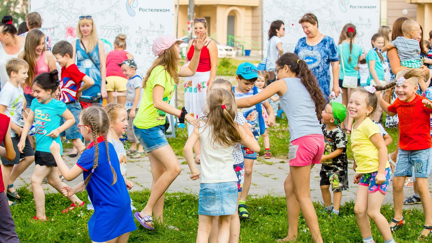 Детские развлечения в формате «Праздник двора»