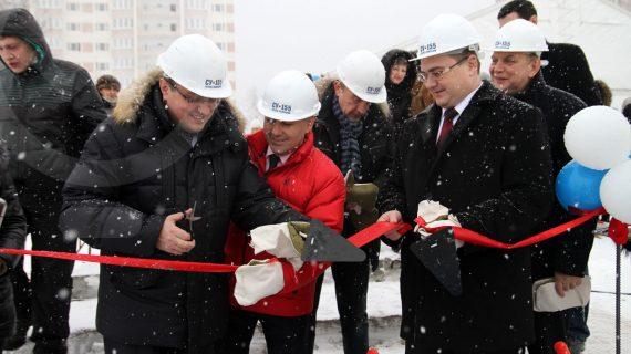 Закладка первого камня в строительстве детского сада «СУ-155»