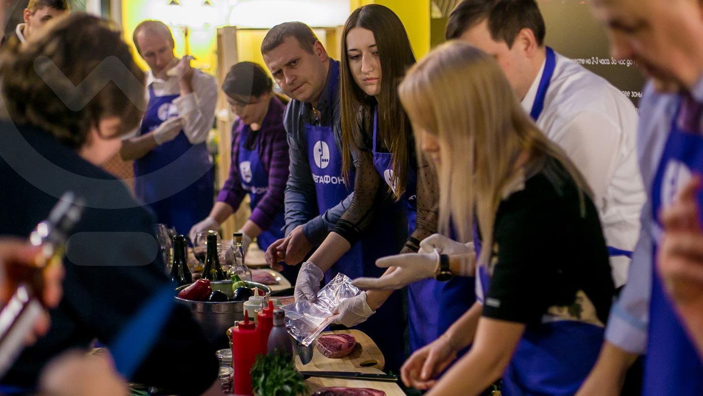 Кулинарные мастер-классы для VIP-клиентов компании «Мегафон»